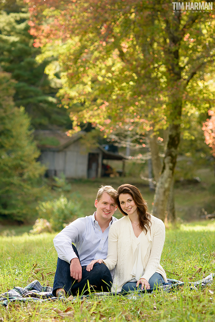 fall engagement shoot, Cashiers, NC