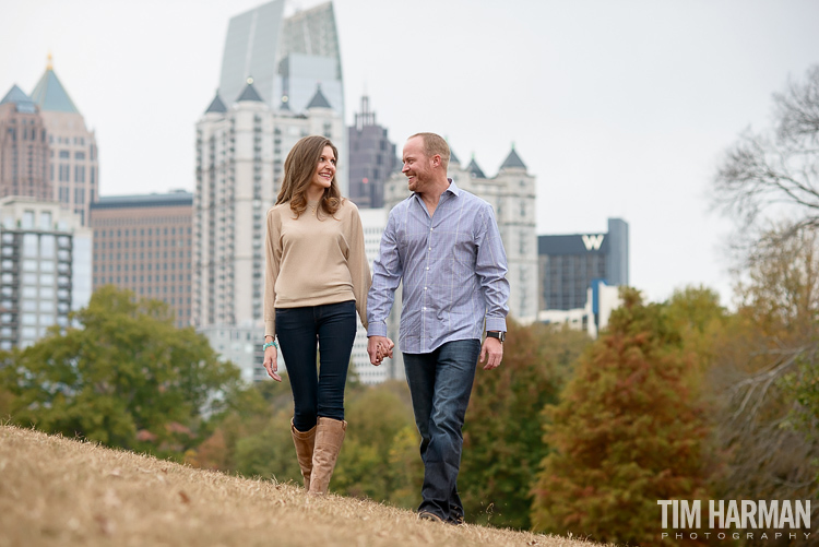 fall engagement shoot at Piedmont Park, Atlanta, GA