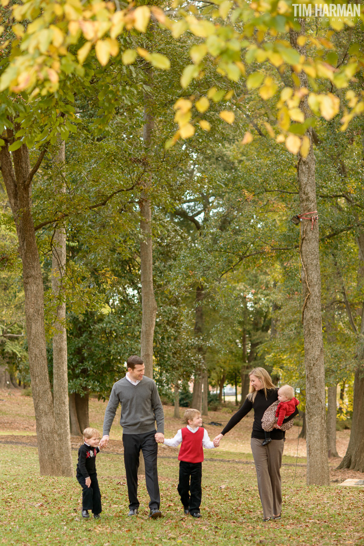 Fall family portraits in Marietta, GA