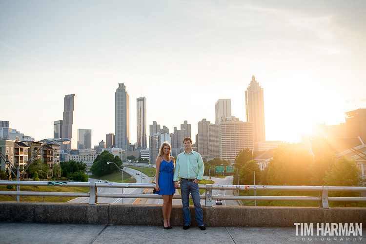 Atlanta skyline engagement shoot