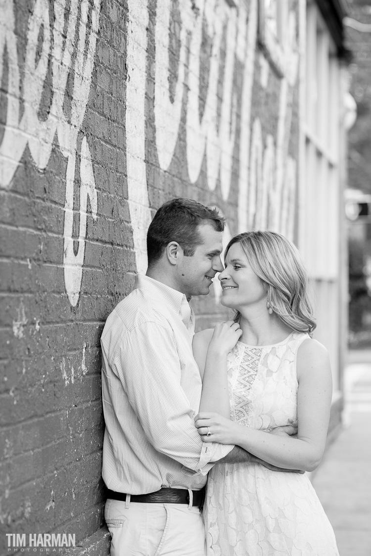 engagement shoot in Virginia Highlands, Atlanta