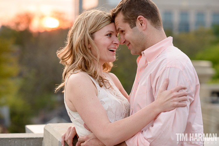 sunset engagement shoot, Atlanta