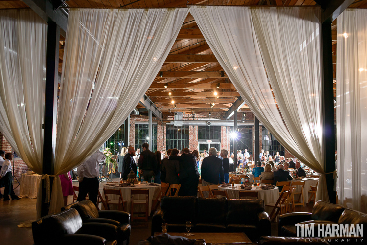 wedding at marietta first baptist church | reception at the foundry at puritan mill